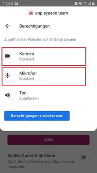 Smartphone Browserzugriff erlauben