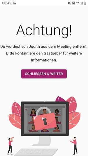 mobile-ansicht-entfernter Teilnehmer Ansicht-Fenster